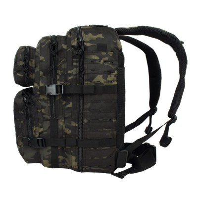 Plecak Mil-Tec Assault LaserCut 36L Multicam Black