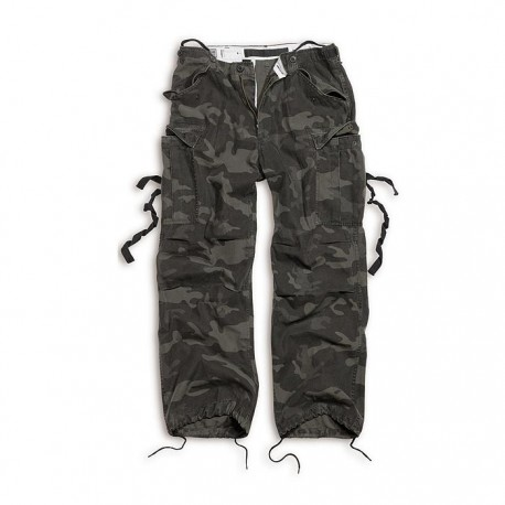Spodnie Surplus FATIGUES BLACK CAMO