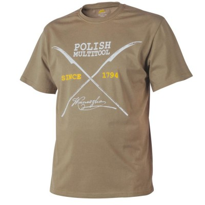 Koszulka T-Shirt Helikon Polish Multitool Coyote