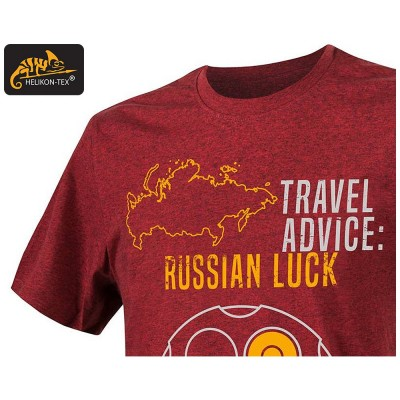 Koszulka T-Shirt Helikon Russian Luck Melange Red